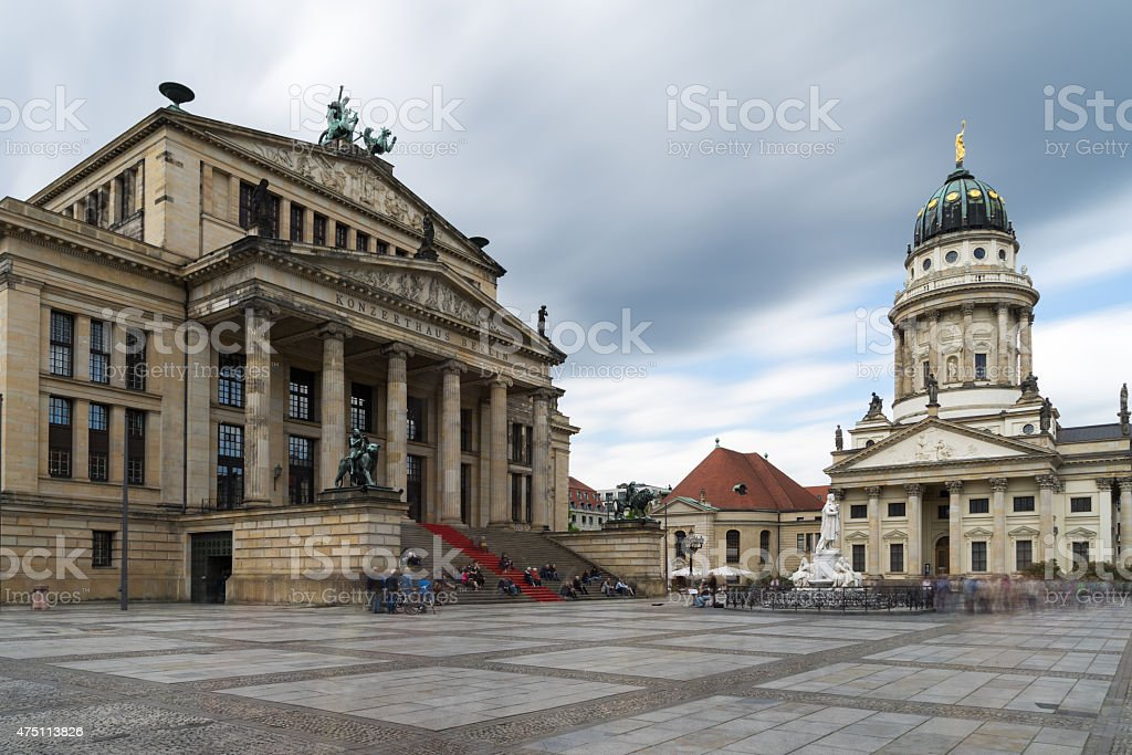 Gendarmenmarkt in Berlin, Germany. View on French Cathedral and stock photo