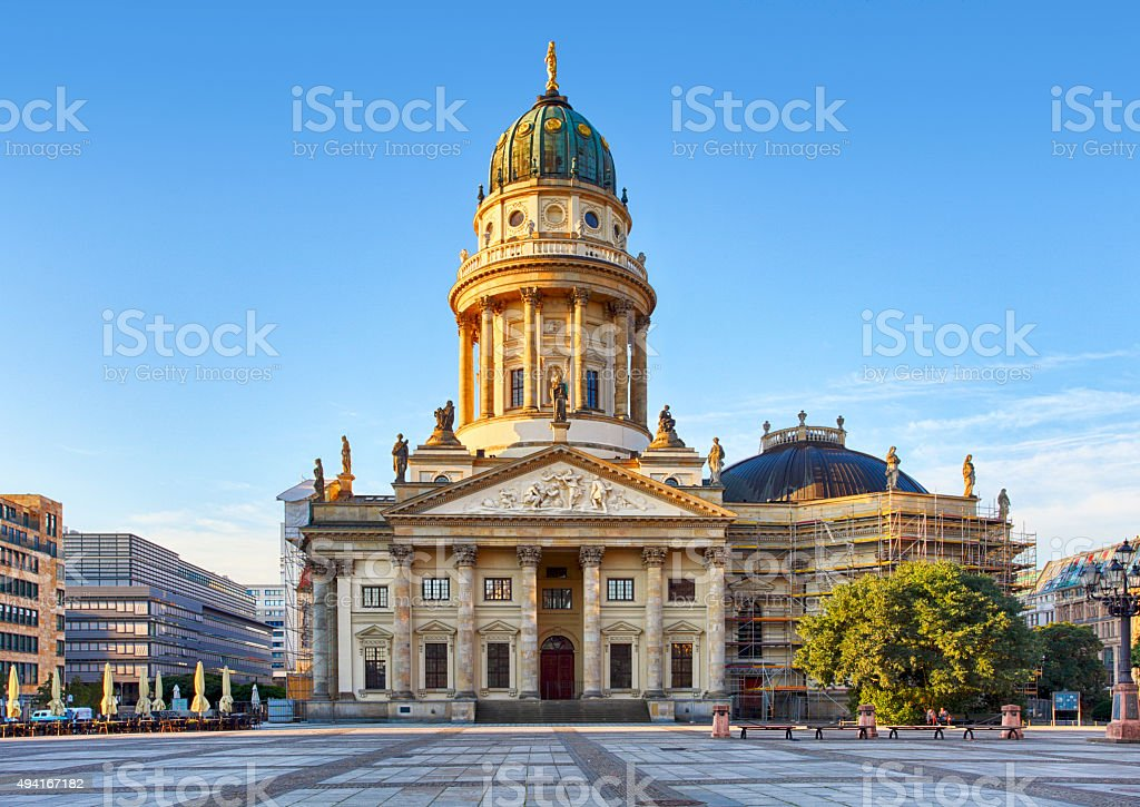 Gendarmenmarkt in Berlin, Germany. View on German Cathedral stock photo