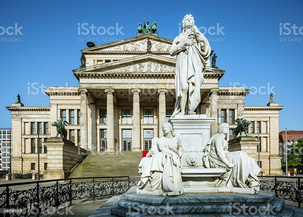 Gendarmenmarkt in Berlin with Konzerthaus stock photo