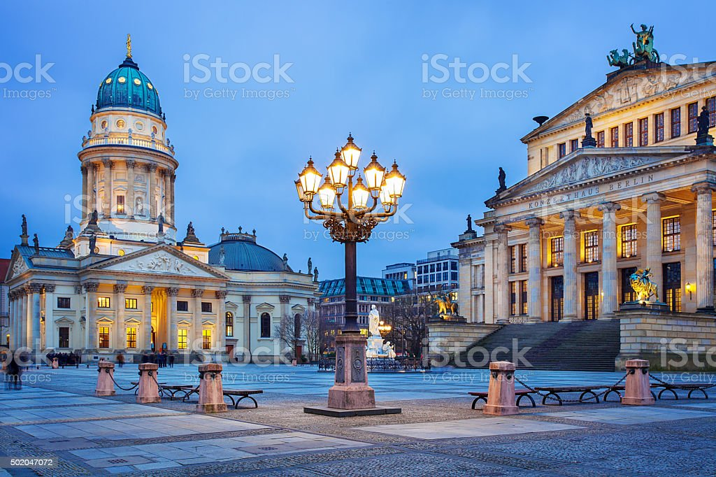 Gendarmenmarkt square in Berlin, Germany stock photo