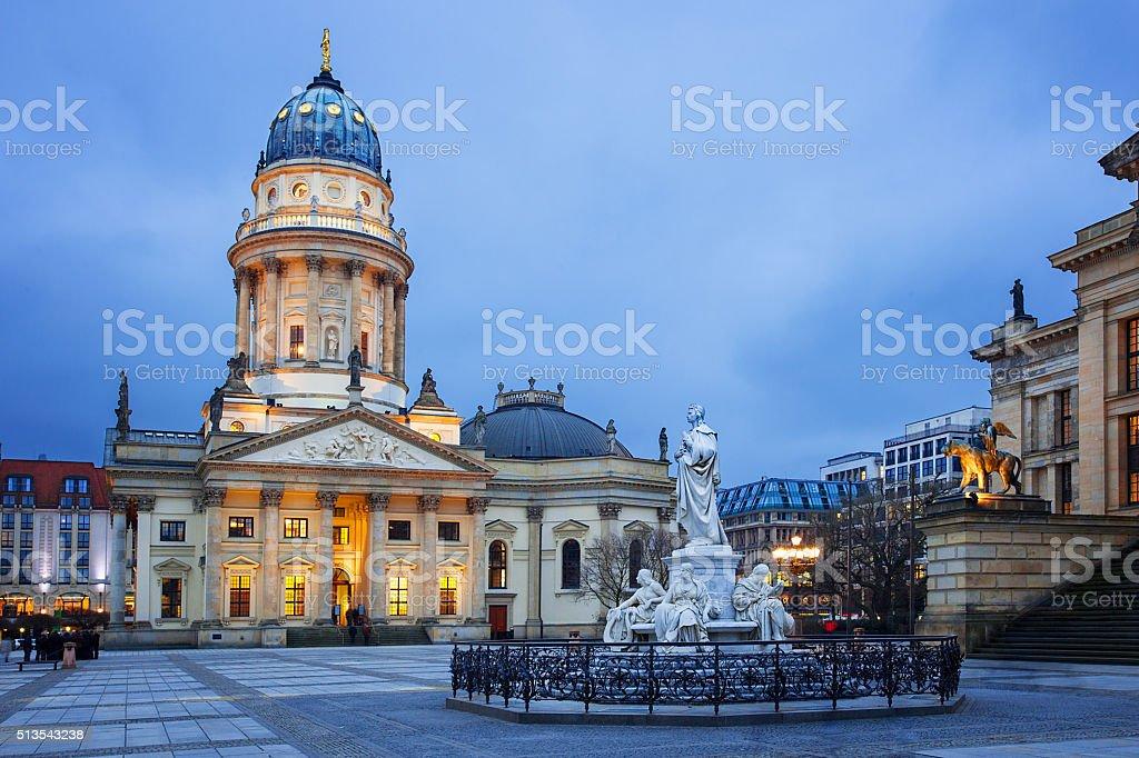 Gendarmenmarkt square in Berlin, Germany stock photo