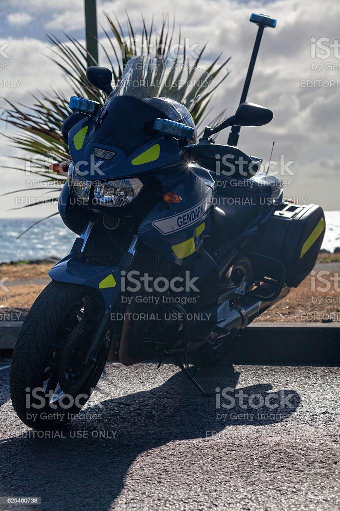 Gendarmerie Motorcycle stock photo