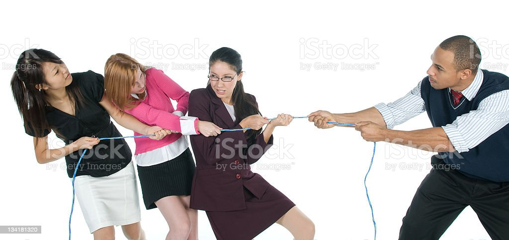 Gender Battle royalty-free stock photo