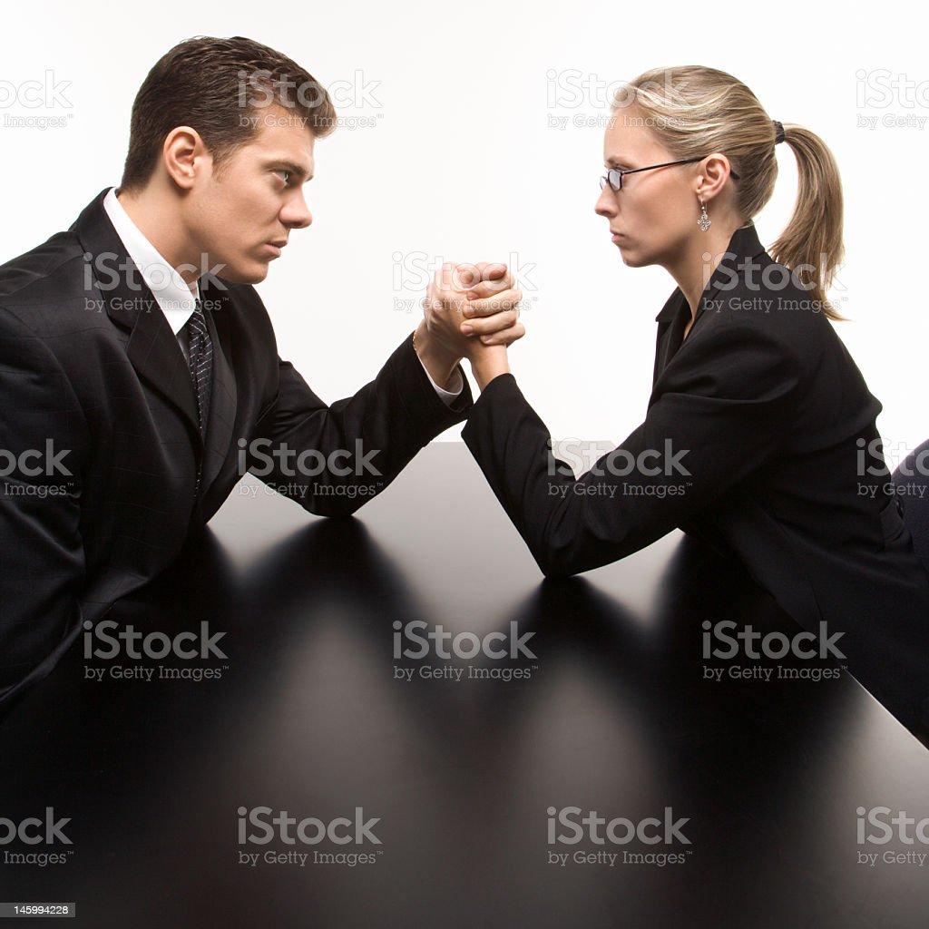 Gender battle. stock photo