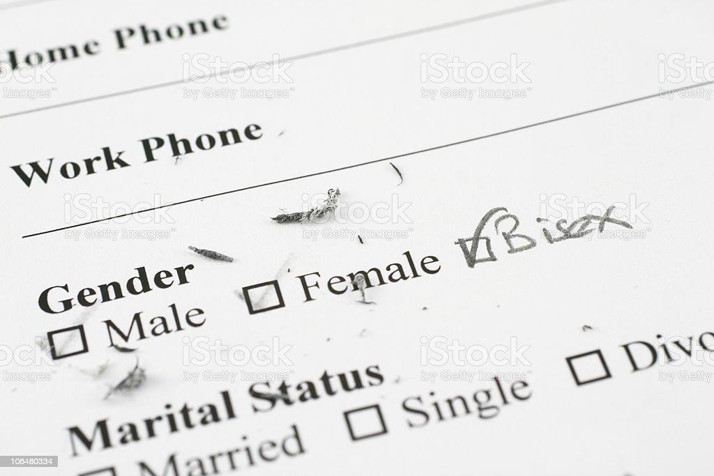 Gender Bisex stock photo