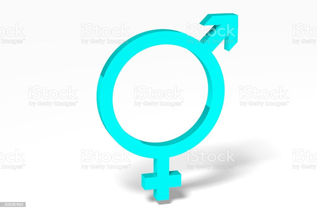 3D gender concept - transsexual stock photo