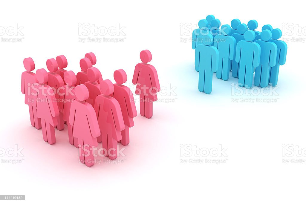 Gender confrontation stock photo