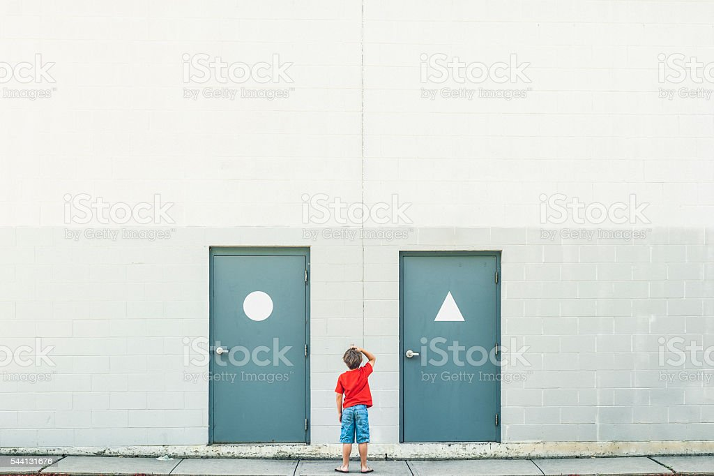Gender confusion stock photo