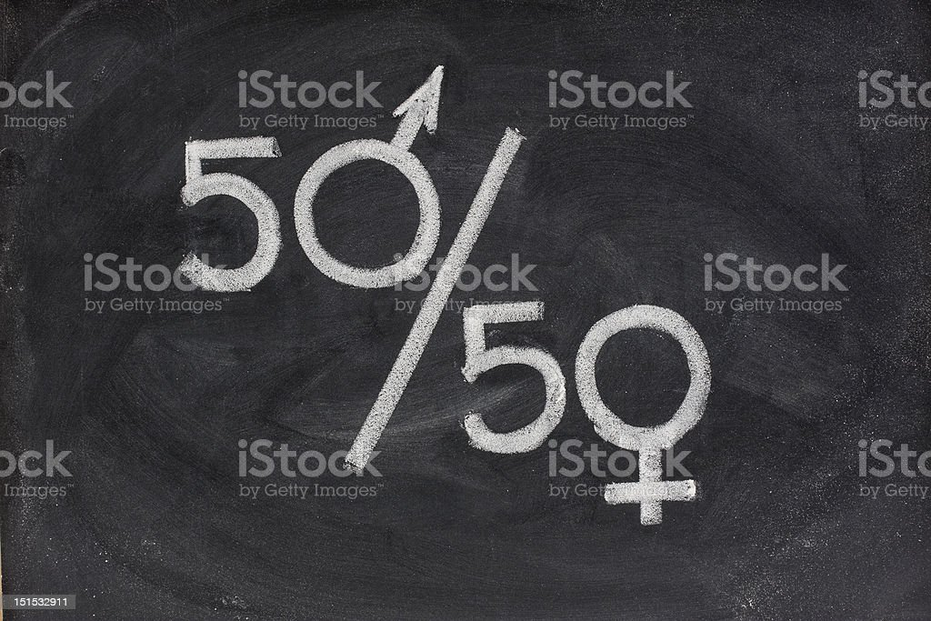 gender equal opportunity or representation royalty-free stock photo