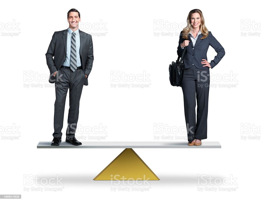 Gender Equality In The Workplace stock photo