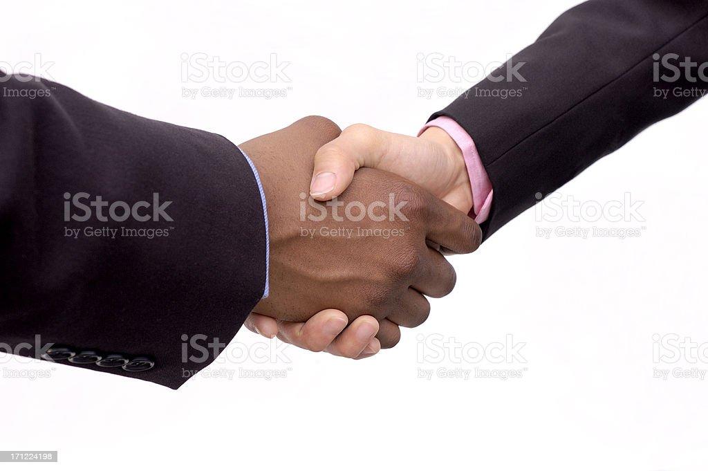 gender handshake royalty-free stock photo