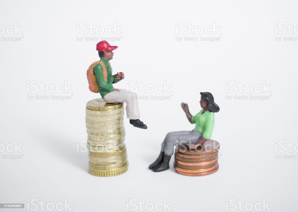 gender inequality unfairness stock photo