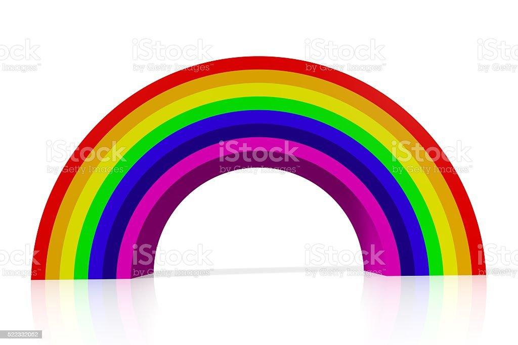 3D gender, rainbow concept stock photo