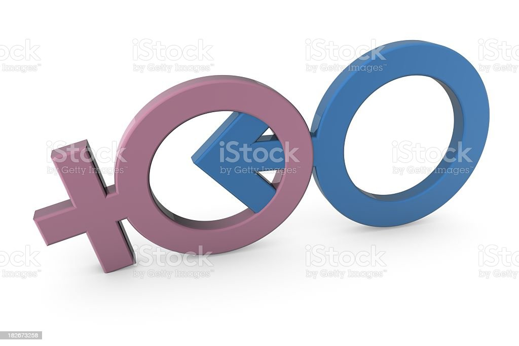 Gender Symbols royalty-free stock photo