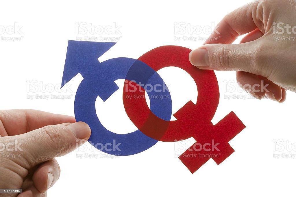 Símbolo de Sexo - foto de acervo royalty-free
