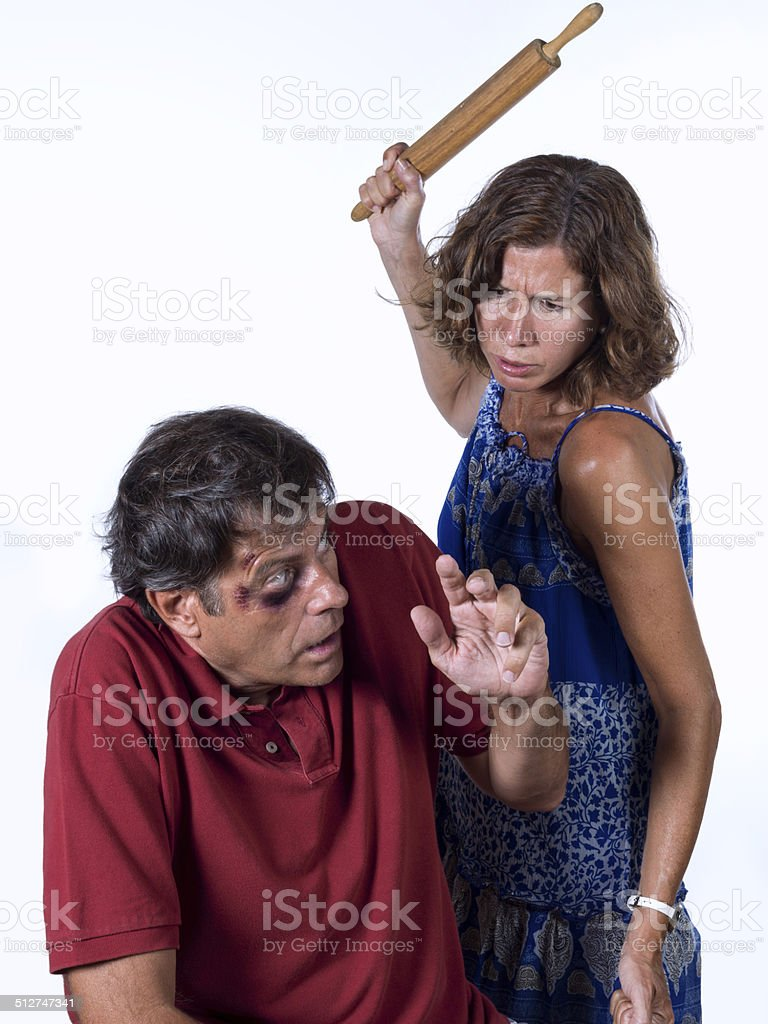 Gender violence stock photo