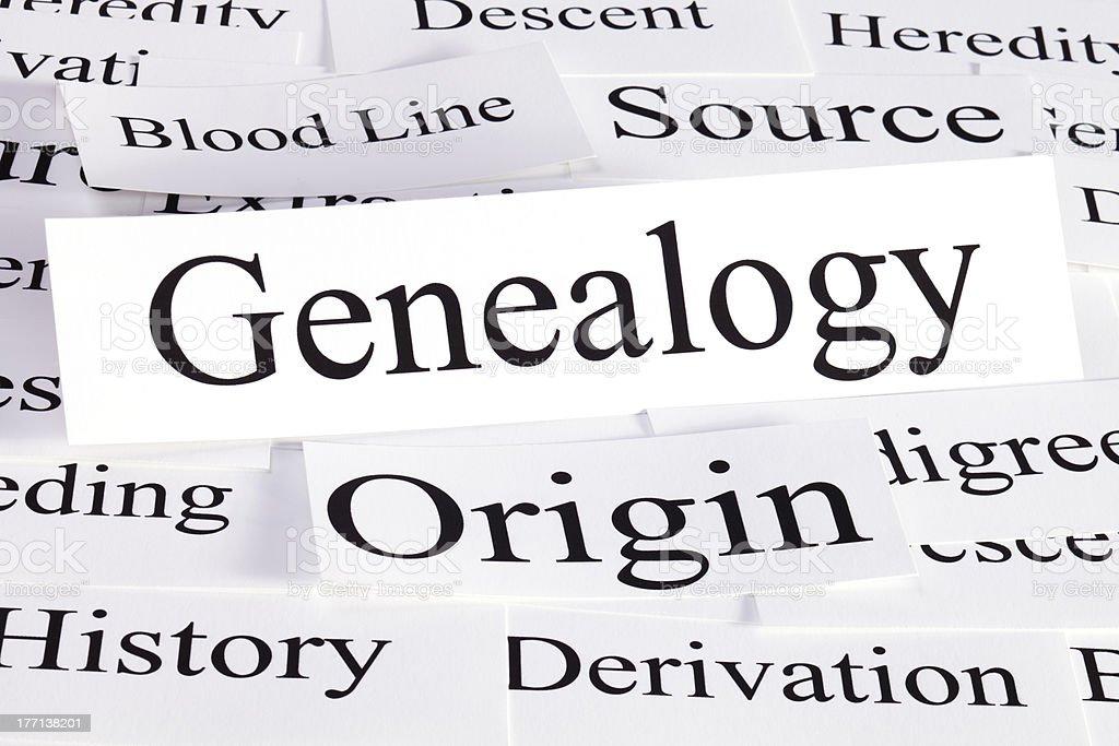 Genealogy Concept stock photo