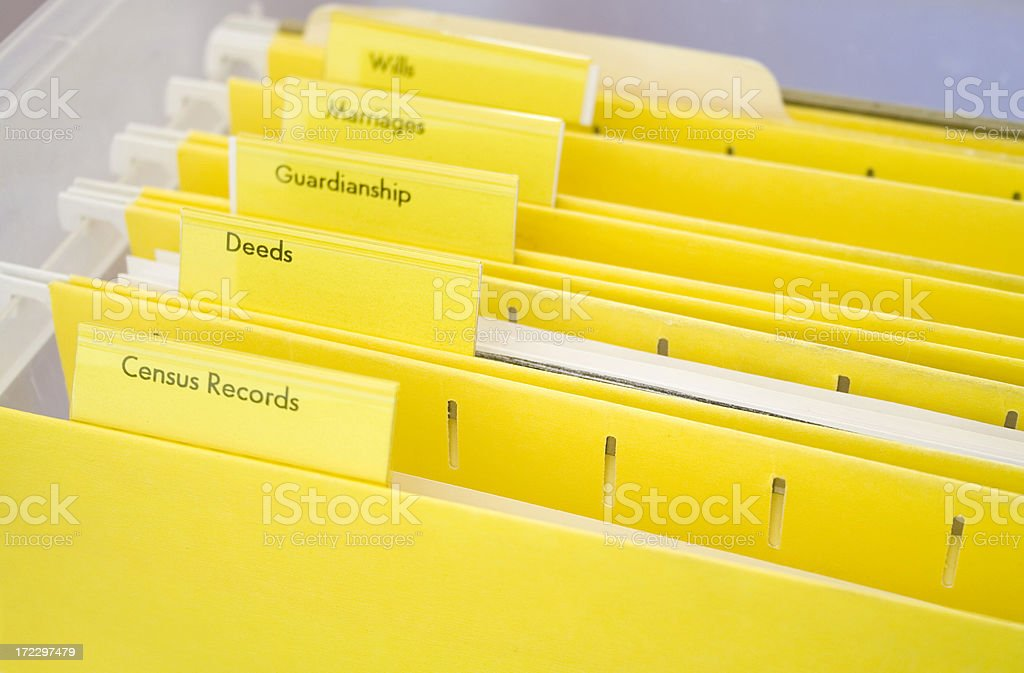 Genealogy Files royalty-free stock photo