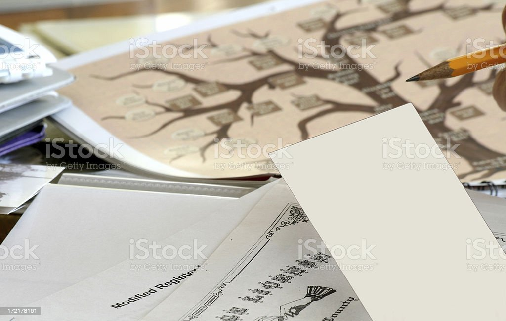 Genealogy Notes royalty-free stock photo