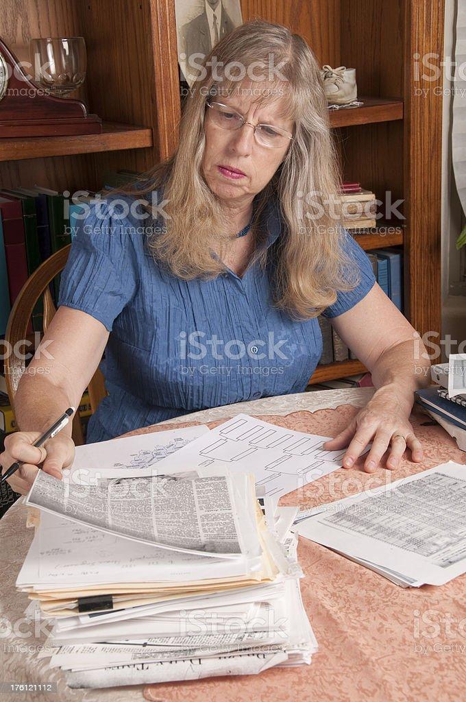 Genealogy Study stock photo