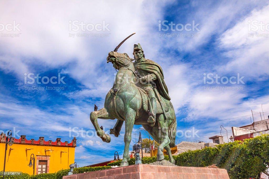 General Allende Statue Plaza Civica San Miguel de Allende Mexico stock photo