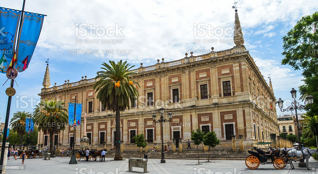 General Archive of the Indies - Seville, Spain stock photo