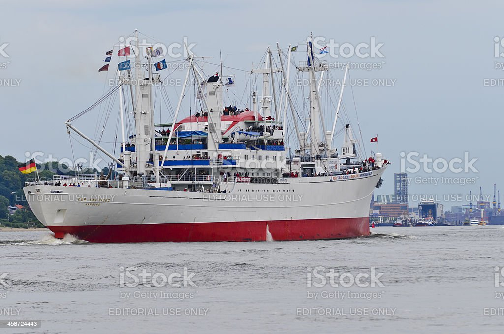 General cargo vessel Cap San Diego royalty-free stock photo