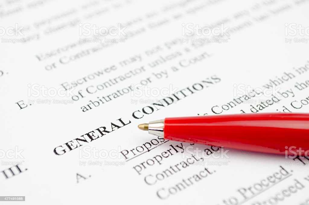 General conditions stock photo