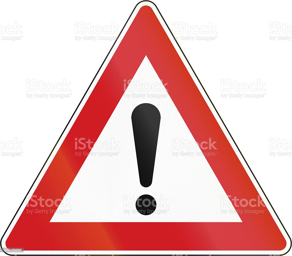 General Dangers In The Czech Republic stock photo