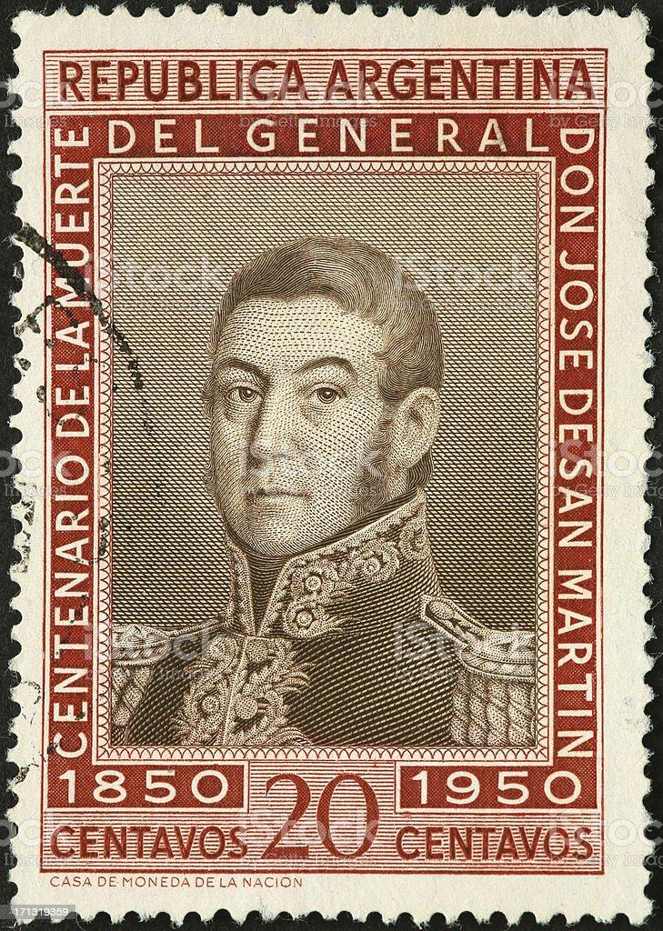 General Don Jose De San Martin, Argentina royalty-free stock photo