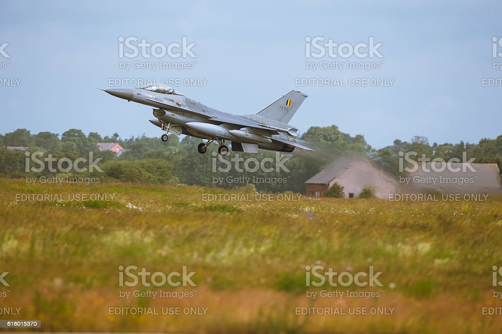 General Dynamics F-16 Fighting Falcon at NATO Tiger Meet M2014 stock photo