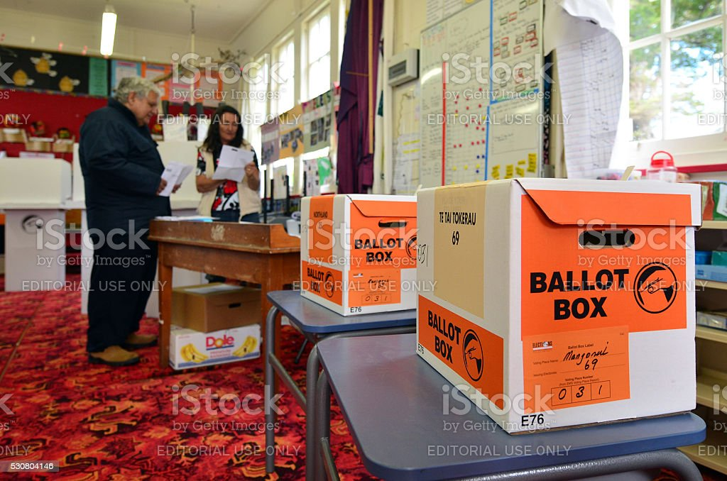 2014 General Election - Elections New Zealand stock photo