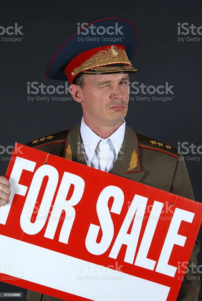 General for Sale royalty-free stock photo