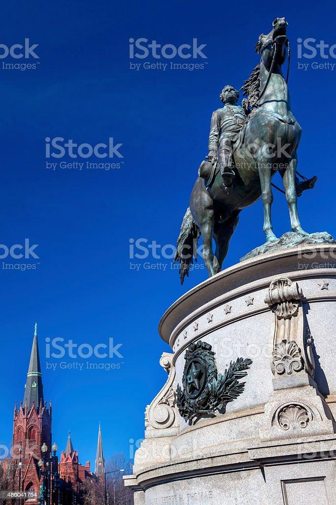General George Thomas Civil War Statue Lutheran Church Washington DC stock photo