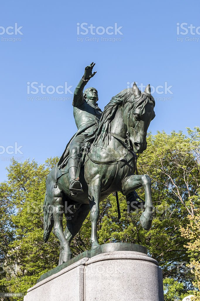 General George Washington Statue at Union Square NYC. stock photo