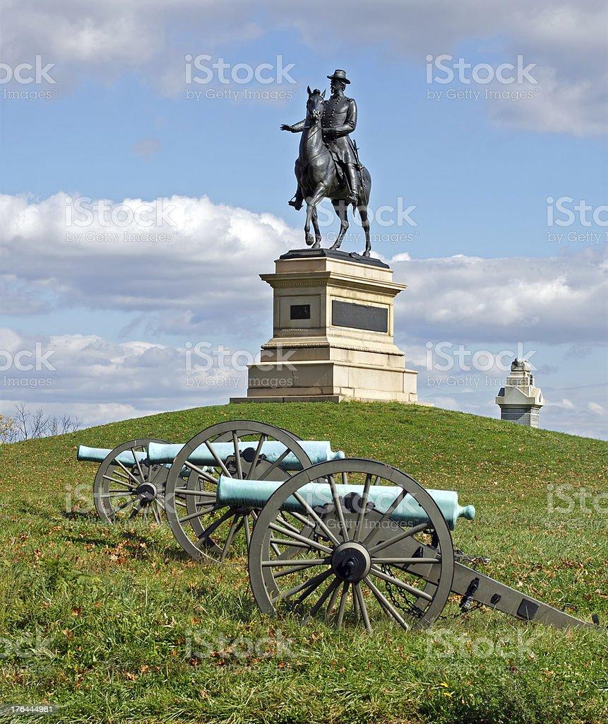 General Hancock at Gettysburg stock photo