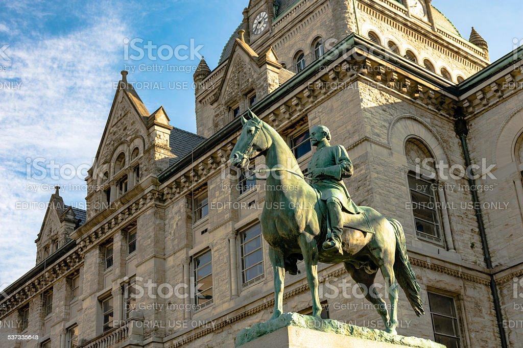 General John H. Morgan statue stock photo