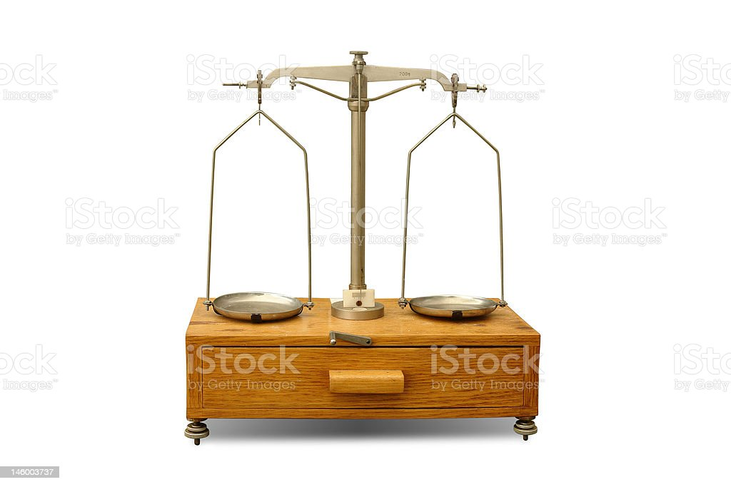 General laboratory balance royalty-free stock photo