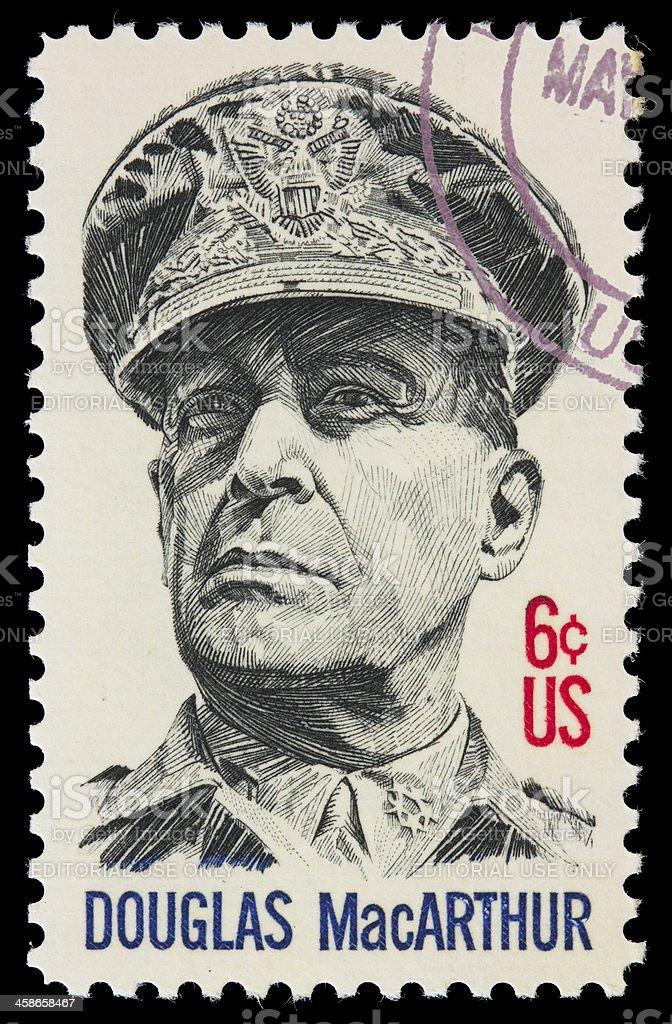 USA General MacArthur postage stamp stock photo