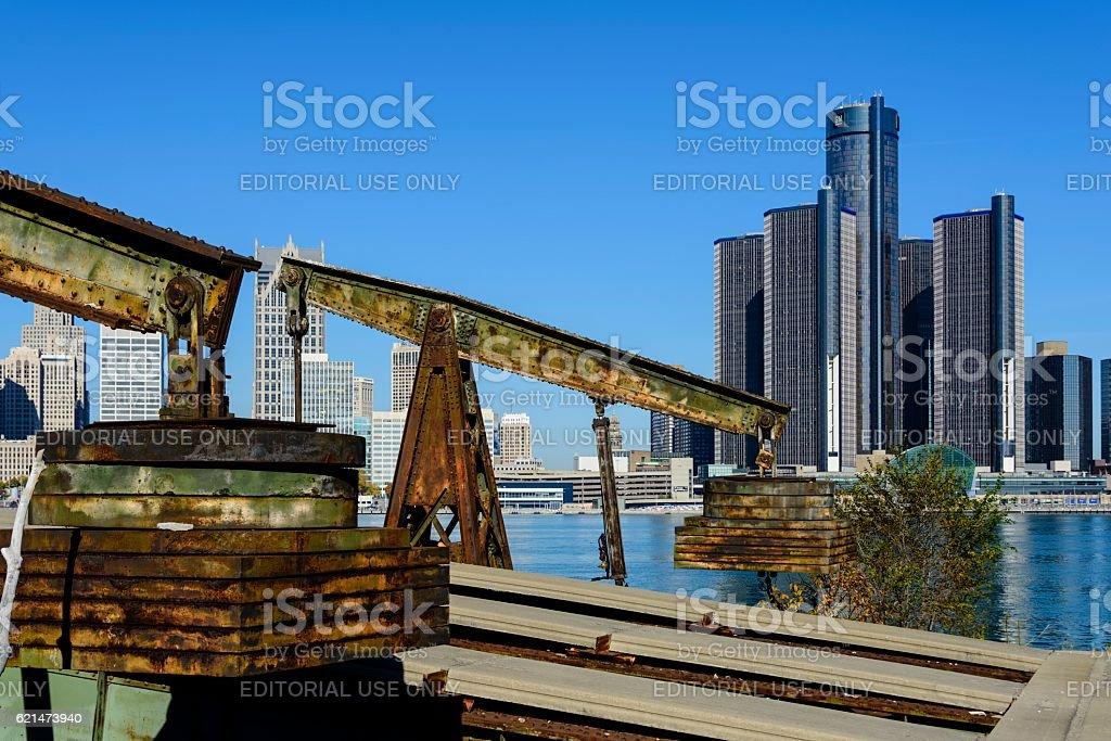 General Motors Headquarters, Detroit Renaissance Center, stock photo