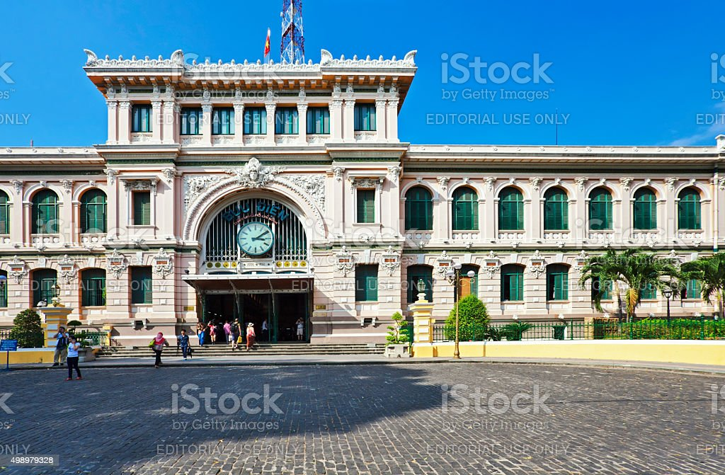 General Post Office in Ho Chi Minh city stock photo