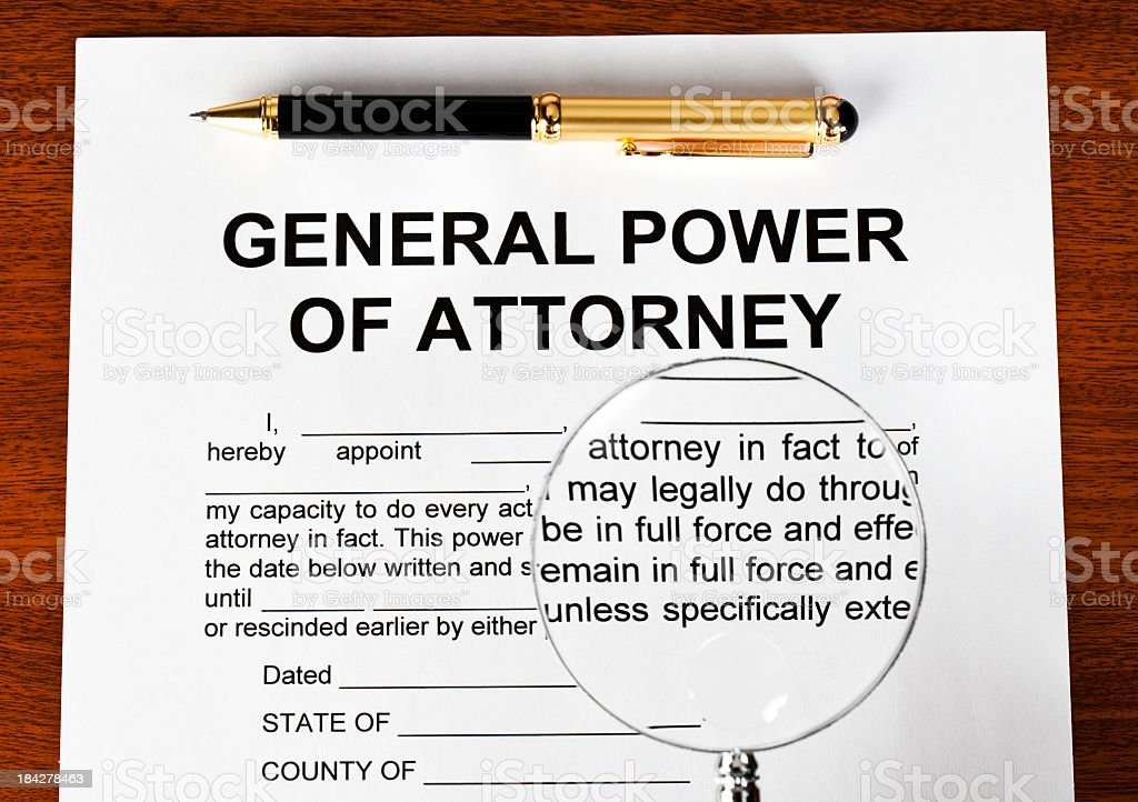General Power of attorney stock photo
