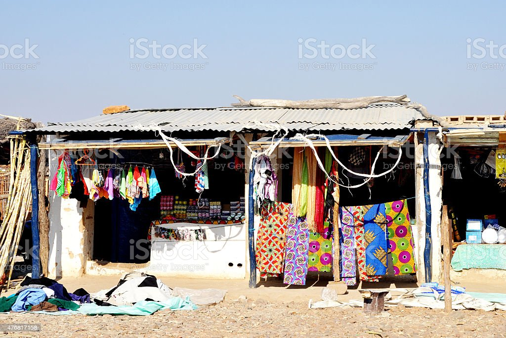 General Shop in Rural Africa stock photo