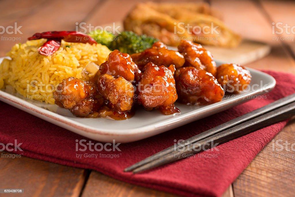 General Tso Chicken stock photo