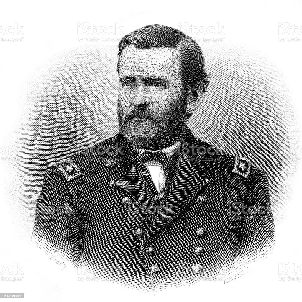 General Ulysses S. Grant stock photo