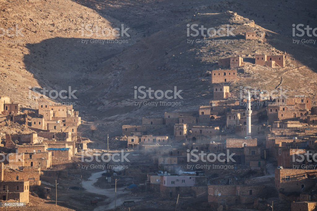General View Of Antique Village Near Mardin, Turkey stock photo
