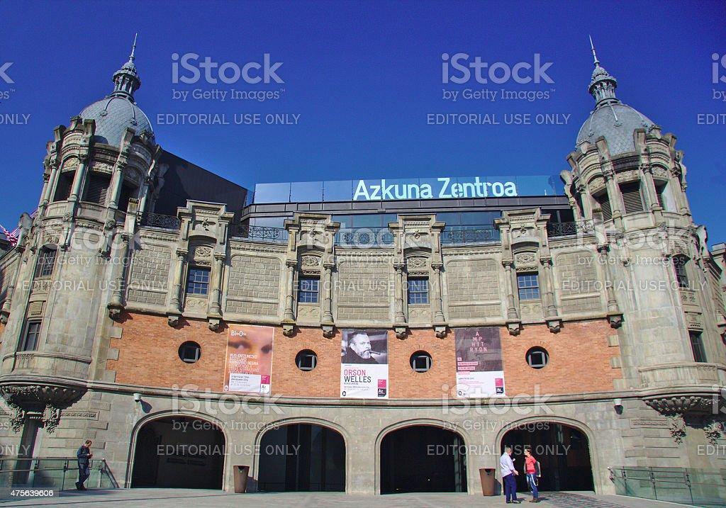 General view of Azkuna Zentroa, Alhondiga building stock photo