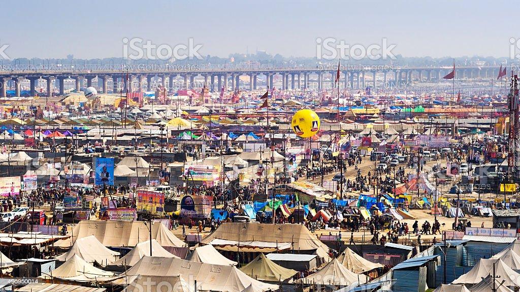 General View of Kumbh Mela Festival in Allahabad, India stock photo