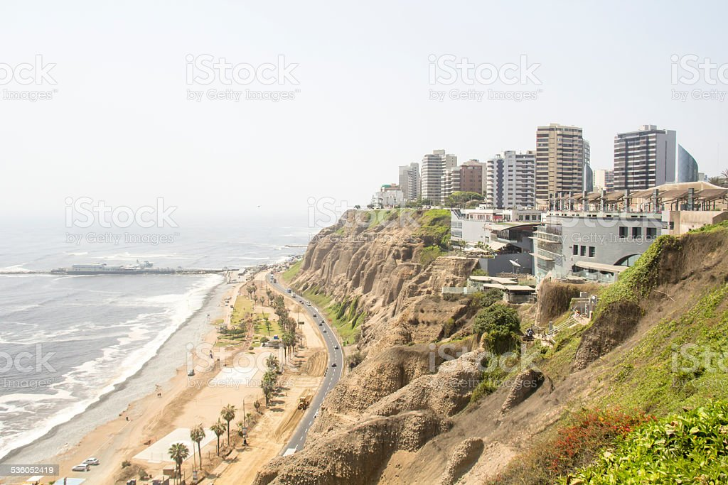 General View of La Costa Verde stock photo