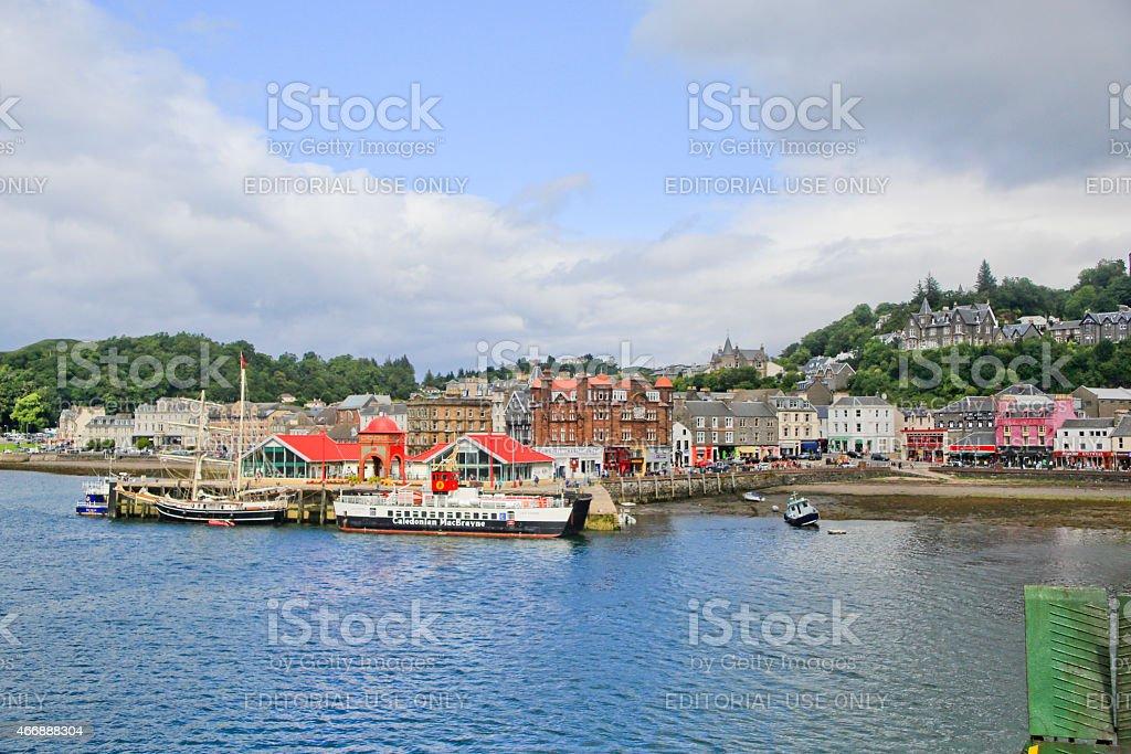 General View of Oban, Scotland stock photo
